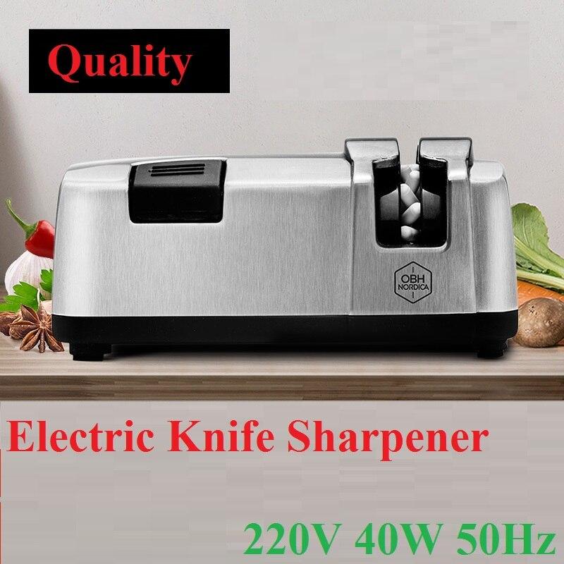 1 pcs 40 w/50 hz Couteau Électrique Sharpener Automatique Multifonction Rapide Ménage En Acier Outil de Cuisine Ustensile Cuisson Épaississant 220 v