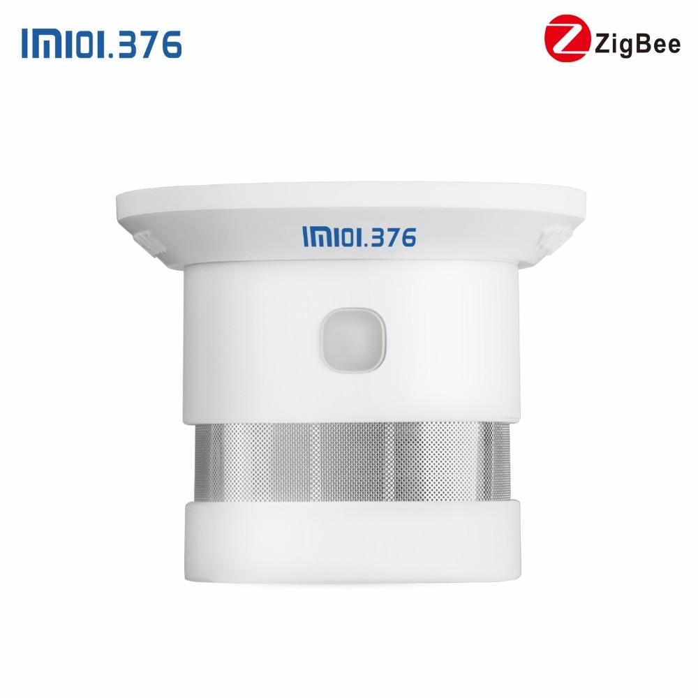 LM101.376 Zigbee sans fil 2.4G détecteur de fumée détecteur d'alarme incendie pour maison intelligente tuya APP