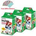 Новый 20 шт./кор. Плёнка fujifilm Fuji Instax mini 8 , 60 листов для камеры мгновенных мини 7s 25 50s 70 90 NEO Фотобумага Белый Край + Бесплатный подарок