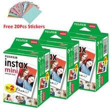 Fujifilm instax mini filme instax mini fotos brancas 60 folhas para fuji instax mini 9 7s 8 11 mini câmera 300 + dom gratuito