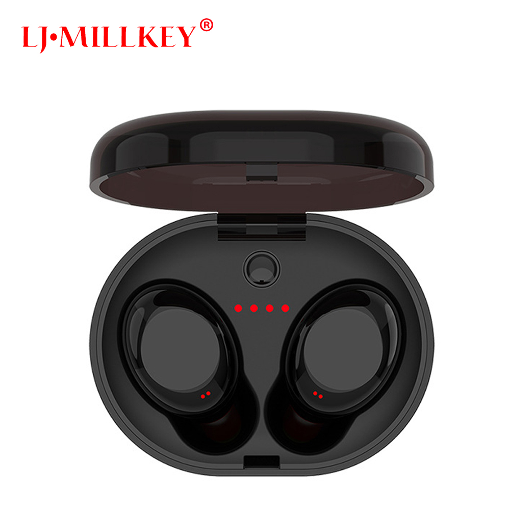 Bluetooth Touch Control Hifi Earphone with Mic TWS Wireless Earbuds Stereo MIC for Phone With Charger Box LJ-MILLKEY YZ118 rockspace eb30