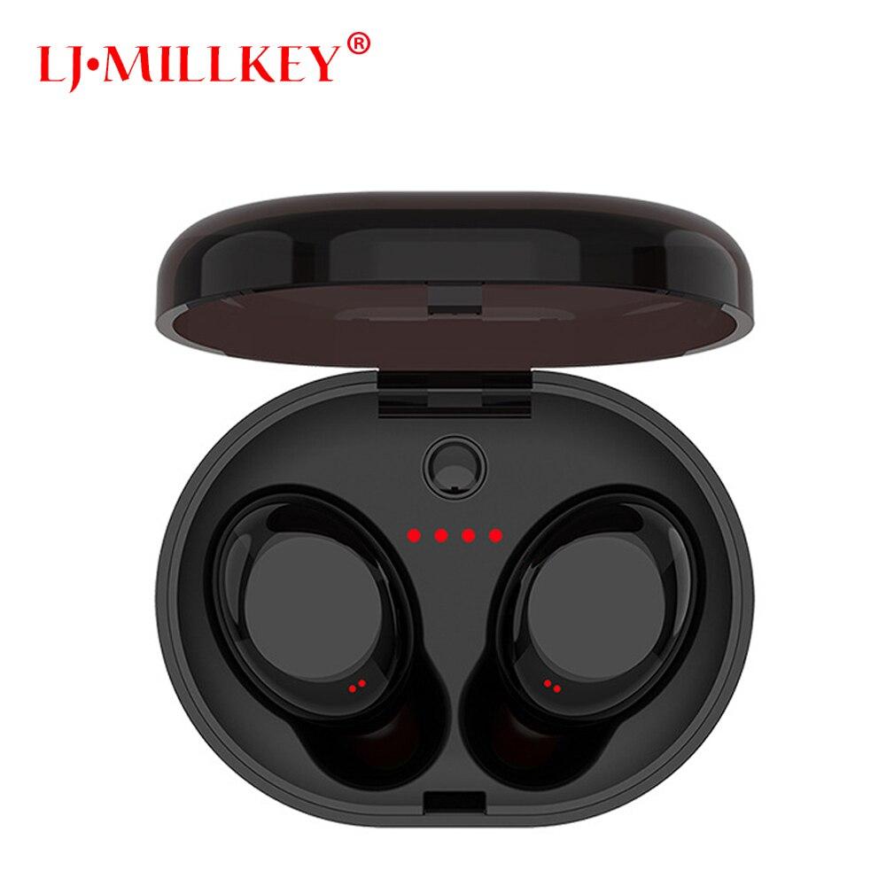 Bluetooth Tactile Contrôle Hifi Écouteur avec Mic TWS Sans Fil Écouteurs Stéréo MIC pour Téléphone Avec Chargeur Boîte LJ-MILLKEY YZ118