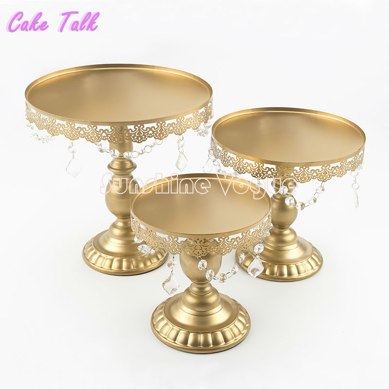 Crystal Cake Stand Gold