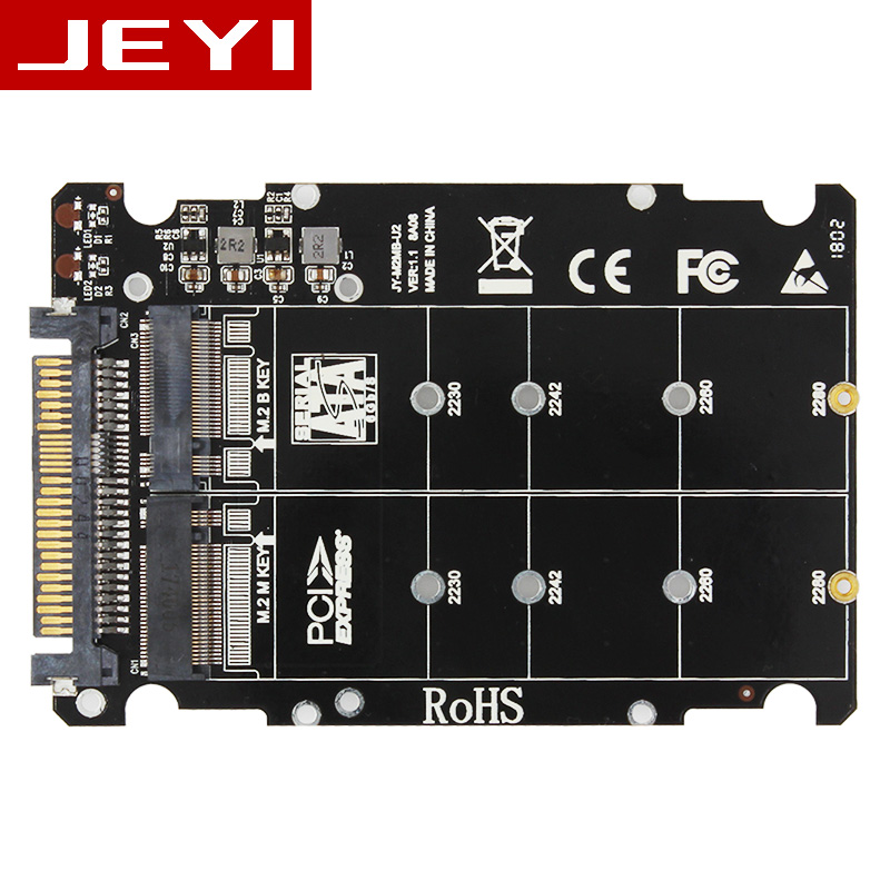 JEYI U2PCB U2 PCI-Express 3.0 4x X16 to U2 SFF-8639 Adapter NVMe PCIe SSD PCI-e to U.2 Card M.2 NGFF 2.5' SSD TO PCI-E X16 intel u 2 sff 8639 to m 2 pci e i f nvme ssd adapter u 2 to ngff converter with cable