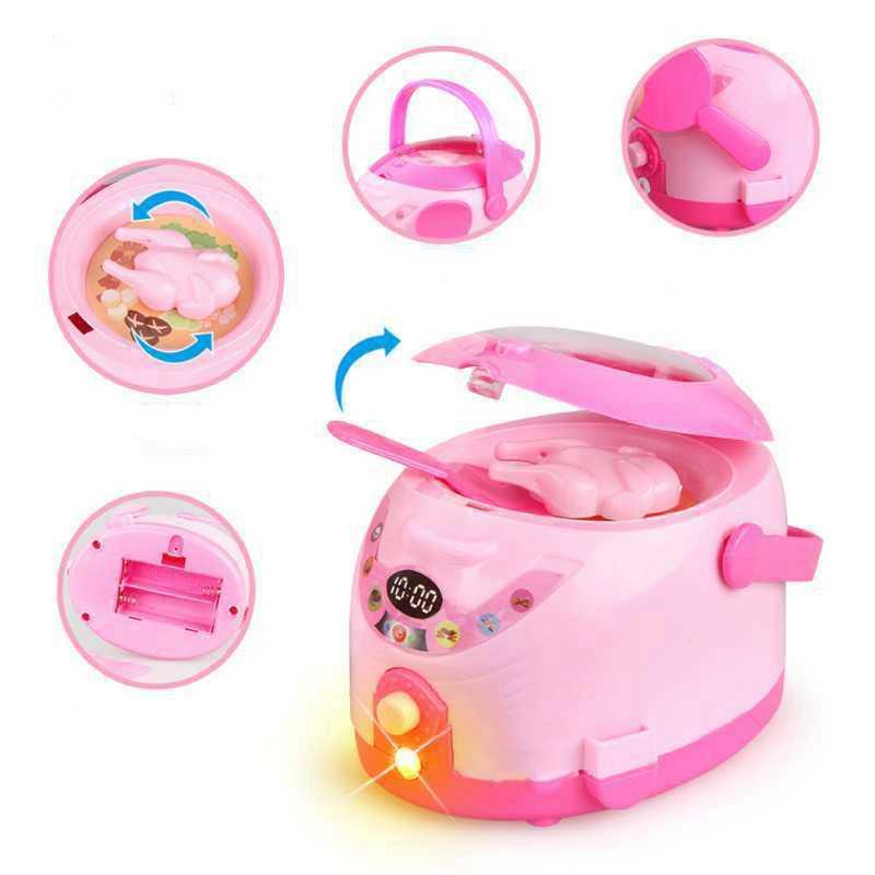 Miniatur Möbel Set Für Puppenhaus Reiskocher Mikrowelle Wasserkocher Staubsauger Bildung Kinder Mini Simulation Möbel