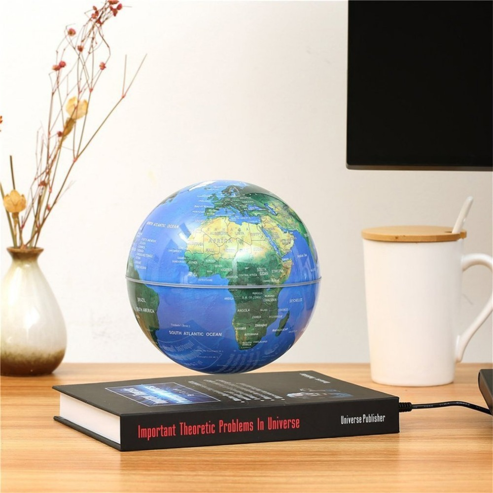 New Innovative 3 inch Globe Book Magnetic Levitation Floating Anti Gravity Globe World Map Magnetic Rotating Globe Discoloration ...