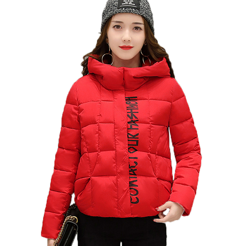 New Women Winter Parka Padded Hooded Zipper Long Sleeve Pockets Outerwear Solid Color Plus Size Women's Warm Thick Coats