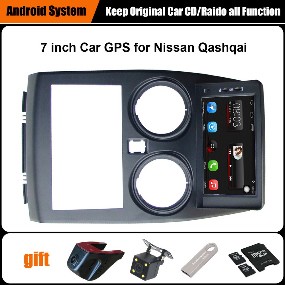 Upgraded Original Car multimedia Player Car GPS Navigation Suit to Nissan Qashqai Support WiFi Smartphone Mirror-link Bluetooth