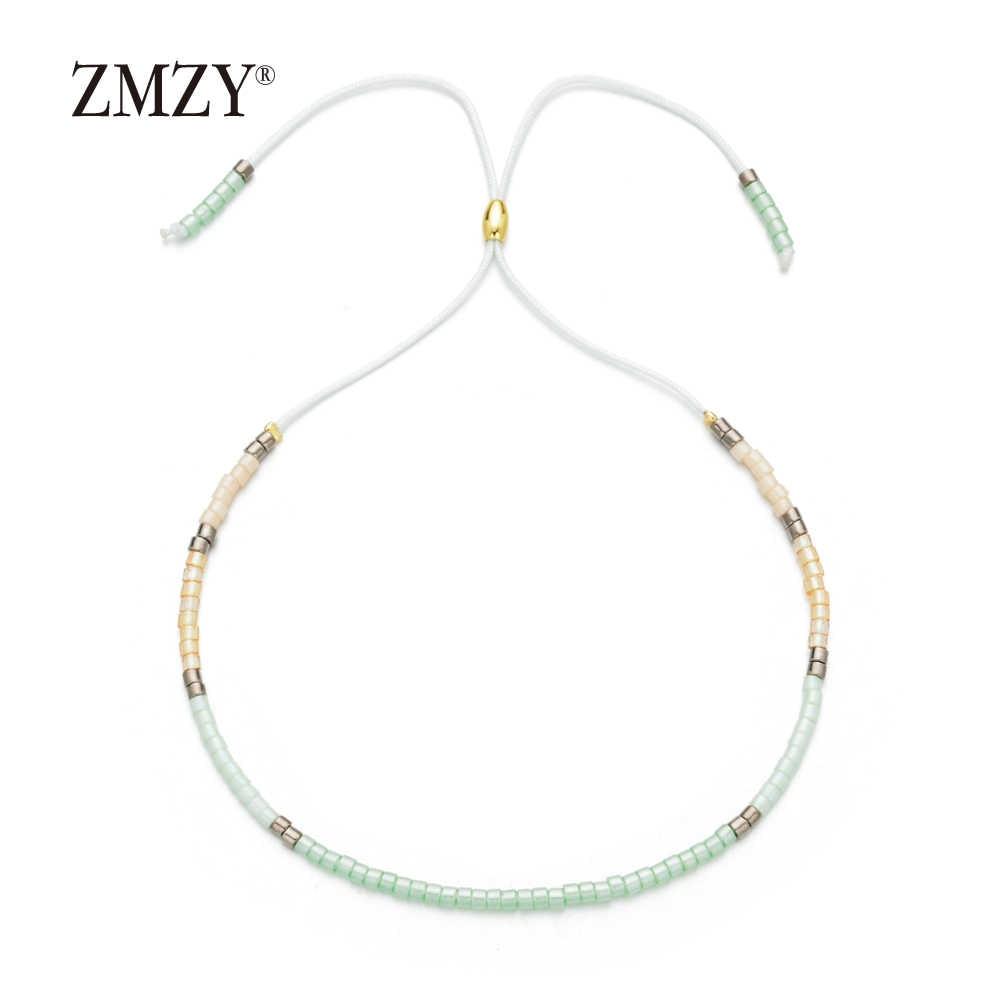 ZMZY Mini Glass Crystal Seed Beads Bohemian Charm Bracelets for Women Miyuki Delica Pulseira Feminina Lover Fashion Jewelry