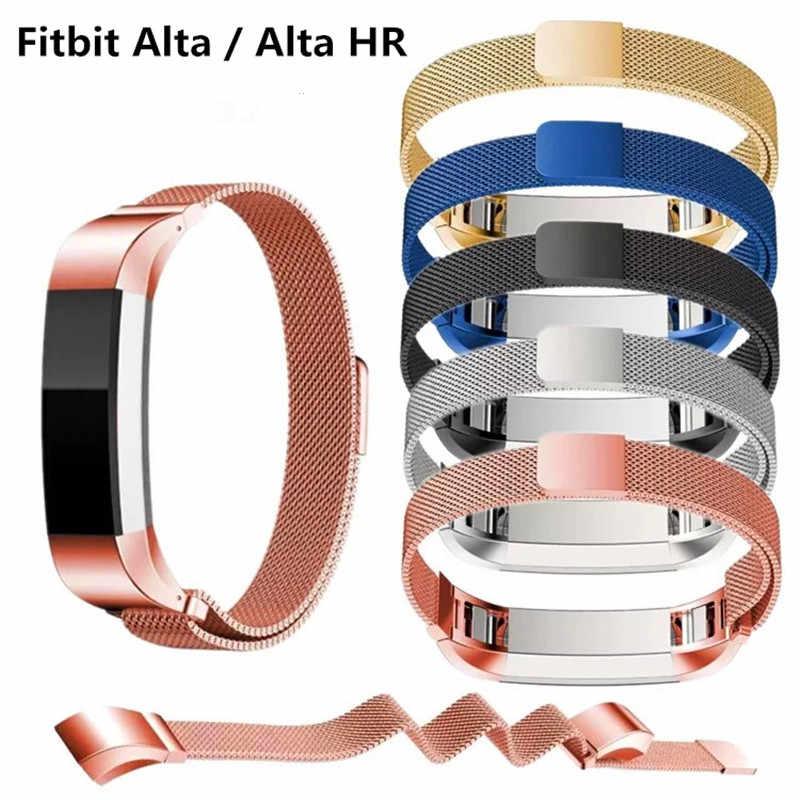 Milanese paslanmaz çelik bileklik için yedek kayış Fitbit spor Alta HR bilezik kemer bantları Fit bit akıllı Alta Ace