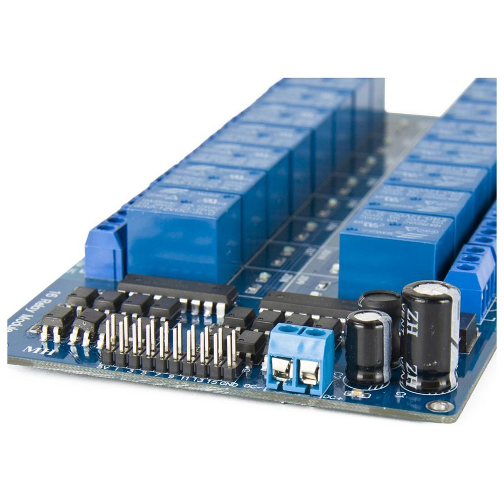 12V 16 Channel Relay Module Board With Optocoupler Protection LM2576 Power PIC AVR MCU DSP ARM