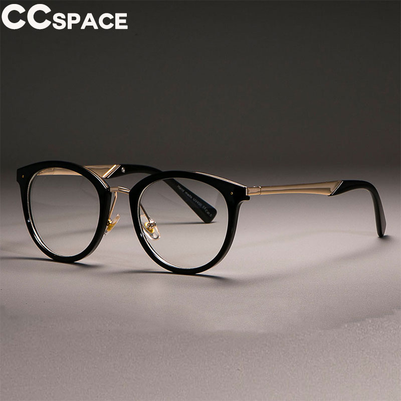 CCSPACE 45566 Luxury Cat Eye Glasses Frames Women Vintage Optical Fashion Computer Glasses