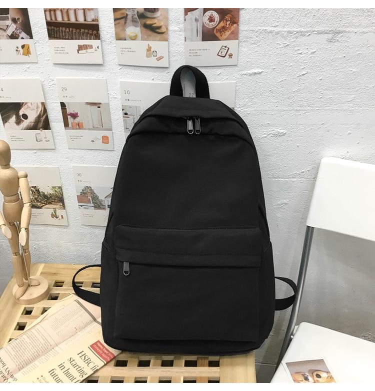 HTB12mLPXET1gK0jSZFhq6yAtVXa1 2019 Backpack Women Backpack Solid Color Women Shoulder Bag Fashion School Bag For Teenage Girl Children Backpacks Travel Bag