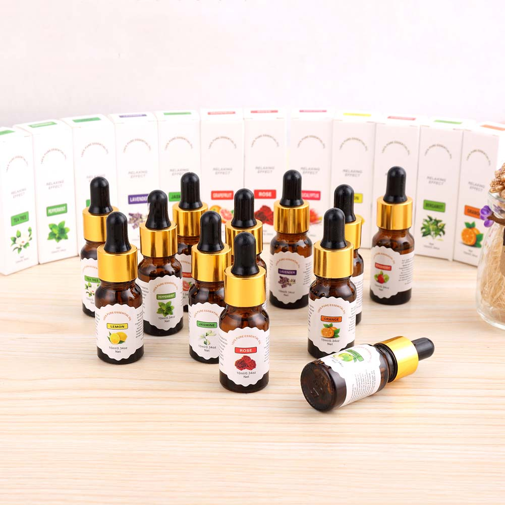 10ml Natural Fruit Plant Dropper Essential Oil Water Soluble Essential