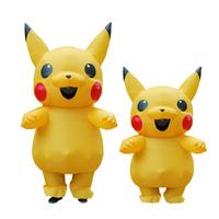 Inflatable Pikachu Anime Costumes Cosplay Carnival Pokemon Costumes Halloween Mascot Costumes for Kids Adults Men Women Girls