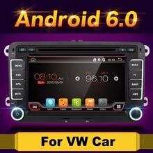 """Android 6.0 7 """"2din Car DVD dla VW POLO GOLF 5 6 POLO PASSAT B6 CC EOS SHARAN SCIROCCO JETTA TIGUAN TOURAN CADDY z GPS Navi"""