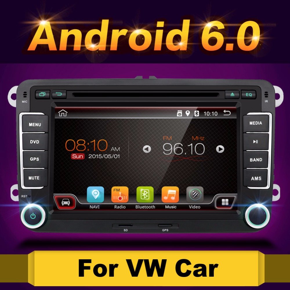 Android 6 0 7 2din font b Car b font DVD for VW POLO GOLF 5