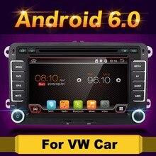 "Android 6.0 7 ""2din dvd для VW Polo Golf 5 6 поло Passat B6 CC Jetta Tiguan Touran EOS шаран Scirocco Caddy с GPS Navi"