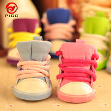2018 New Fashion pet shoes for dogs teddy small dog shoes Anti-slip Puppy pet boot ZL102(China)