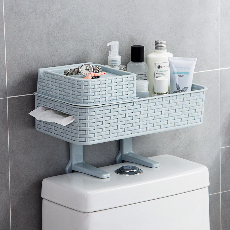 Nordic Style Multifunction Imitate Cane Bathroom Storage rack toilet ...