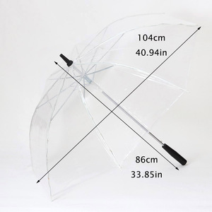 Image 2 - LED Light Transparent Unbrella For Environmental Gift Shining Glowing Umbrellas Party Activity props Long Handle Umbrellas