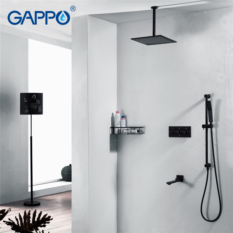 все цены на GAPPO shower faucet waterfall faucet sets shower syatem Bathtub tap shower Wall Mounted mixer bathroom thermostatic faucets