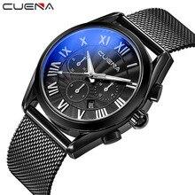 CUENA Fashion Mens Watches Top Brand Luxury Waterproof Stainless Steel Wristwatches Men Quartz Watch Man Clock Relogio Masculino