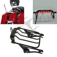 2 Up Pack Air Wing Luggage Rack w/ Light For Harley Touring Street Road Glide Ultra Classic FLTR FLHX