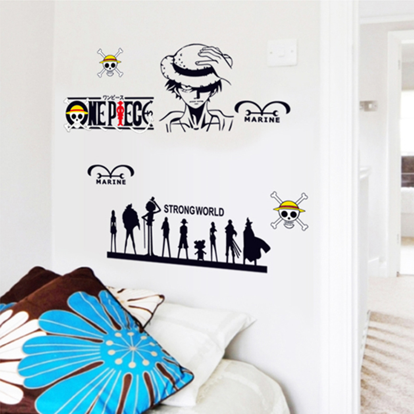 Zs Sticker One Piece Wall Stickers Home Decor Anime Wall Decal Home Decor Tenn anime stickers