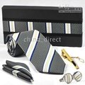 Definir TIE + lenço + abotoaduras + bar gravata abotoaduras gravatas, Manguito de 11 jogos/lote