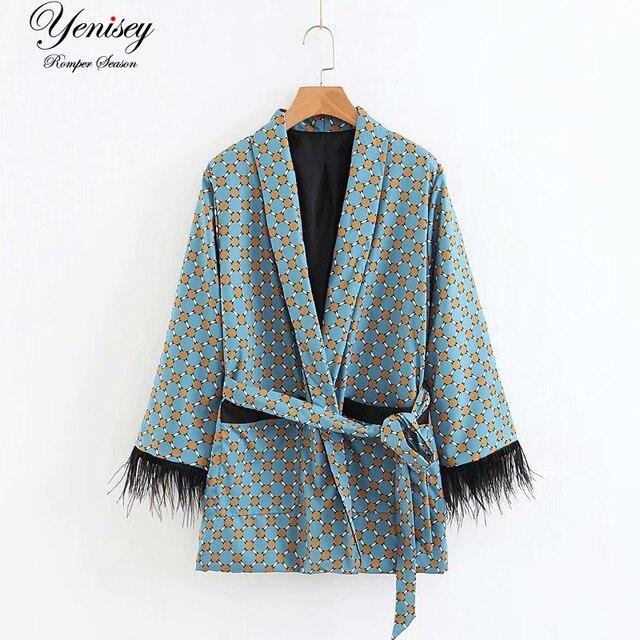 Mode jacke frauen lose kimono mantel fliege schärpen taschen quaste schmücken oberbekleidung übergroßen damen herbst