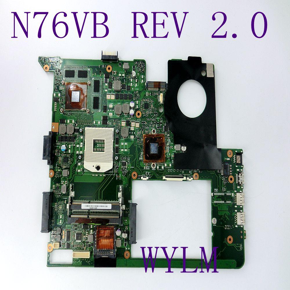 N76VB GT740M 2GB Mainboard For ASUS N76VJ N76VB N76VZ N76VM N76V REV2.0 Laptop Motherboard USB3.0 HM76 100% tested Free shipping used n76v rev 2 2 suitable for asus n76v n76vz n76vj n76vb n76vm laptop motherboard