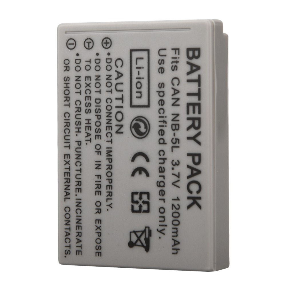 Newest 1250mAh NB-5L NB 5L Li-ion <font><b>Battery</b></font> For <font><b>Canon</b></font> SX200is SX210IS SX220HS <font><b>SX230HS</b></font> CB-2LXE PowerShot S100 SD970 Batteria Pack image