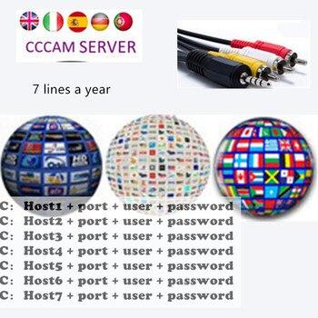 Receptor de TV satelital Gtmedia V7S HD compatible con Europa Cline para  España DVB-S2 decodificador