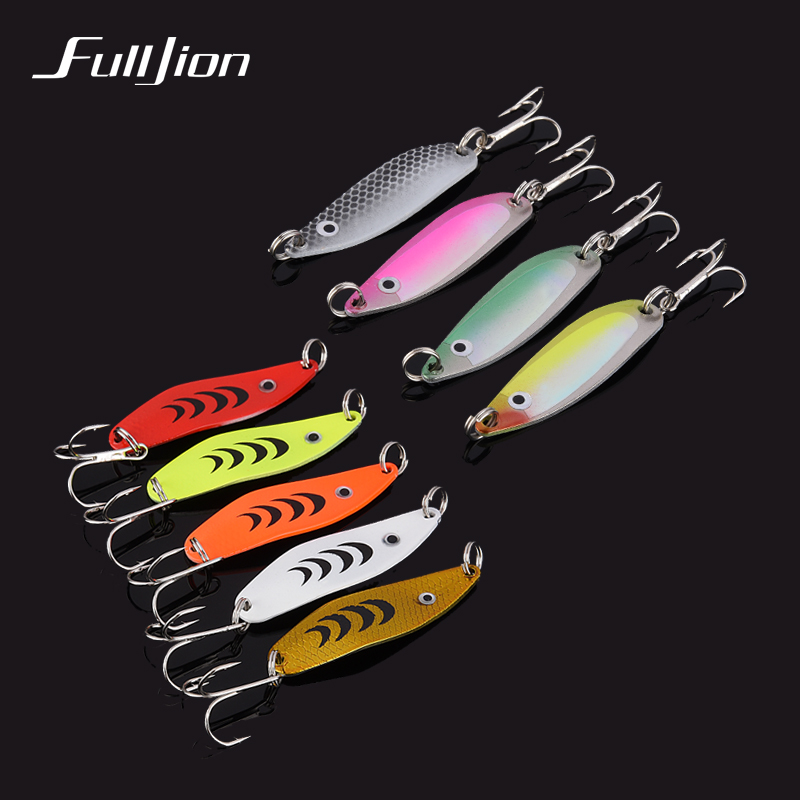 4pcs/lot Fulljion Hand Spinner Spoon Fishing Lures Wobblers Hard Baits Sequins Fishing Tackle With Hooks 3D Eyes Pesca Isca fishing lures wobblers hard minnow crankbait aritificial laser reflective fishing tackle with feather hooks pesca isca baits