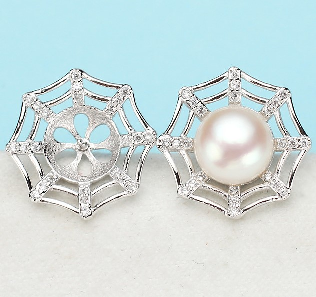 Trendy Pearl Earrings Mountings Beautiful Hot Wholesale Earrings Findings Earrings Settings Jewelry Stud Earrings Accessories