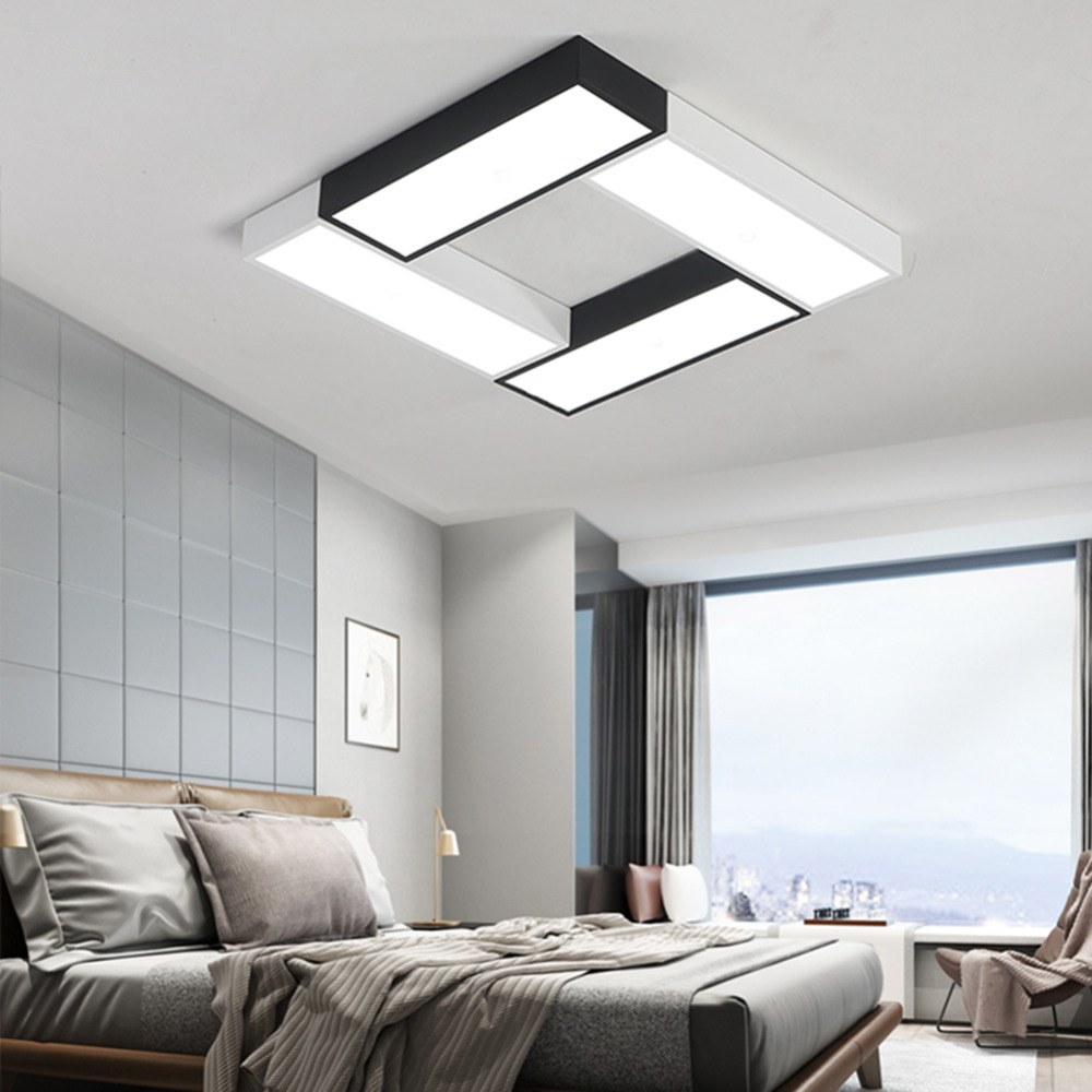Modern LED Ceiling Light Panel Lamp Square Lighting Fixture Hall ...