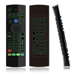 Image 5 - 7 لون الخلفية MX3 I8 لوحة مفاتيح لاسلكية صغيرة 2.4ghz الإنجليزية يطير ماوس هوائي مع صوت التحكم عن بعد تي في بوكس أندرويد PK RII