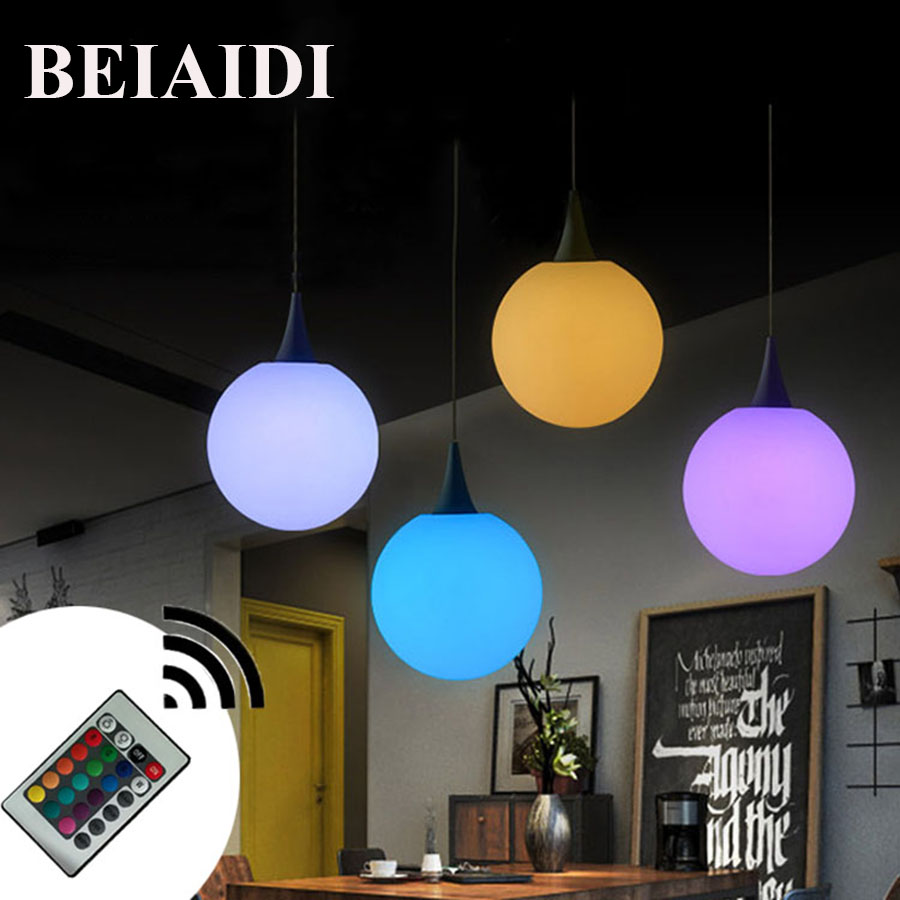 BEIAIDI 16 Color Modern Milk Globe Ball Pendant Light Dining Room Foyer Hotel Bar Restaurant Hanging Pendant Lamp цена