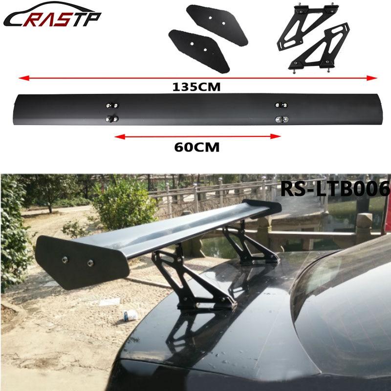 Universal 53.15'' Lightweight Aluminum Car Spoiler Wing Car Tail Decoration Rear Car Sedan GT Wing Racing Spoiler RS LTB006|Spoilers & Wings| |  - title=