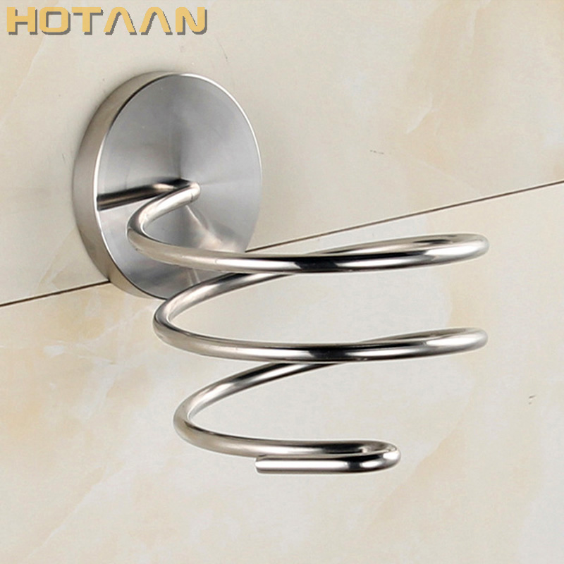 Solid & Anti-rust SUS 304 Stainless Steel Hair Dryer Holder  Hair Dryer Rack Stand Rack Shelf Bathroom Accessories YT-8211