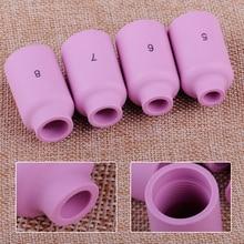 LETAOSK 4 stücke Keramik Tasse Düsen 10N49 10N48 10N47 10N46 Fit für WP17 18 26 Wig-schweißbrenner Werkzeug