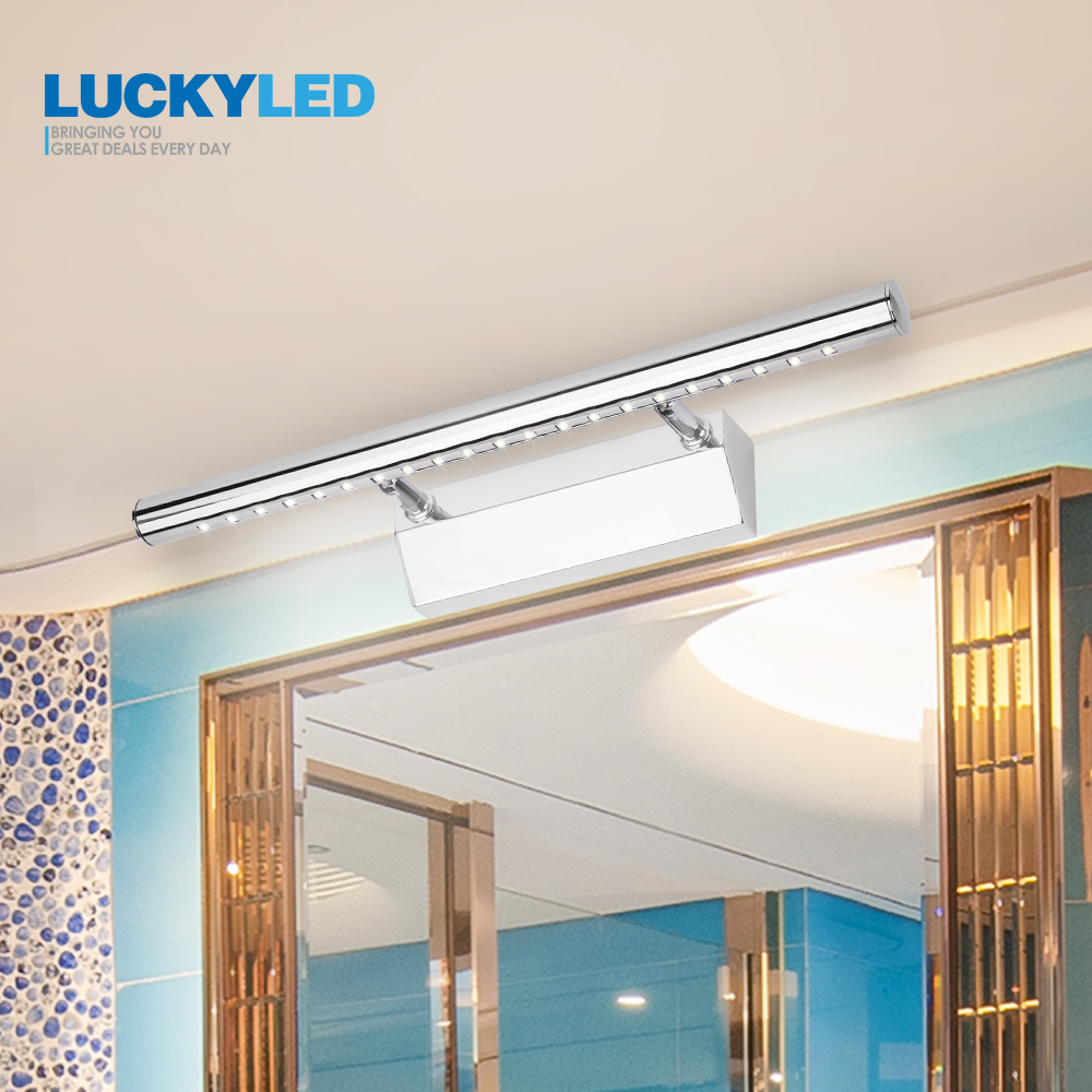 LUCKYLED Sconce Bathroom Lighting Mirrors Light 3W 5W 7W 90-260v Stainless Steel modern Led Wall Light Lights Waterproof
