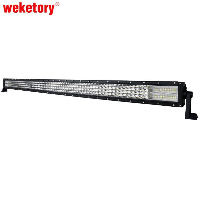 weketory 52 inch LED Bar Rated 924W Actual 262W LED Work Bar Light for Tractor Boat OffRoad 4WD 4x4 Truck SUV ATV Driving 12V