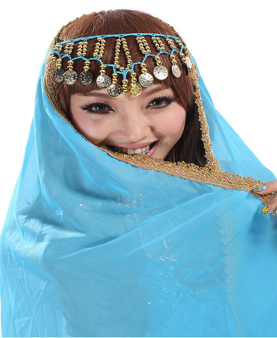 2018 Chiffon Belly Dance Face Veil Dancing Head Scarf Shawl Headpiece Costumes Free Shipping And Drop Shipping