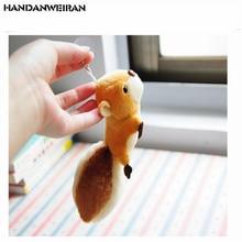 1PC Smart little squirrel plush toy mini cute pendant big tail knapsack toys key chain soft stuffed animal Pendant 8cm