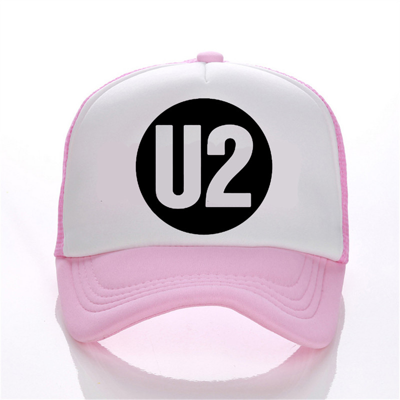 U2 printing net cap baseball cap Men and women Summer Trend Cap New Youth Joker sun hat Beach Visor