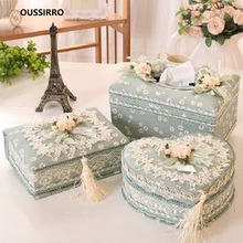 OUSSIRRO Lace Tissue Box European Style Home Container Towel Napkin Holder Case for Office Decoration