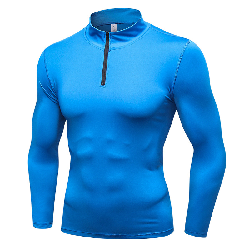 Men's Clothing Men's Long Sleeve Gym T-Shirt Moisture-Wicking Compression Tight Shirt Baselayer T-Shirts