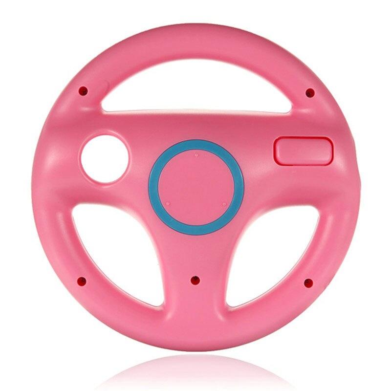 Подарок на Хэллоуин гоночная игра круглый руль пульт дистанционного управления для nintendo для wii - Цвет: Розовый